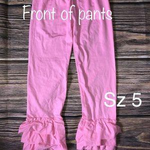 Boutique brand pink ruffle pants SZ 5T Boutique